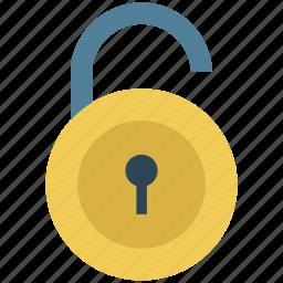 lock, lock open, lock unlock, open, padlock, sign, unlock icon