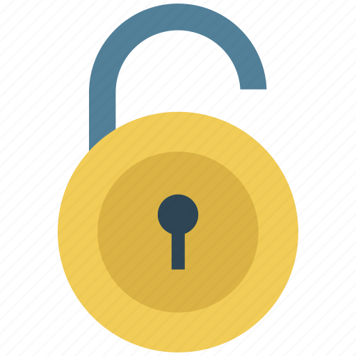lock, lock open, lock unlock, open, padlock, sign, unlock icon