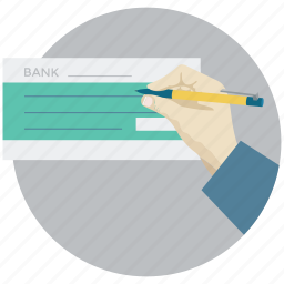 businessman, cheque, payment, receipt, sign, signature, voucher icon