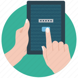 tablet, tablet pc, tablet security, technology, using tablet icon