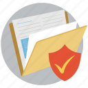 documents, protected folder, checkmark, protected, concepts, folder, security