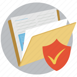 checkmark, concepts, documents, folder, protected, protected folder, security icon