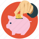coin, currency, donation, piggy bank, savings icon