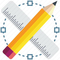 design, draw, drawing, education, pencil, ruler, tools icon