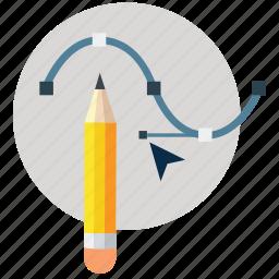 adobe, art design, curve, pen tool, photoshop, shape, tool icon