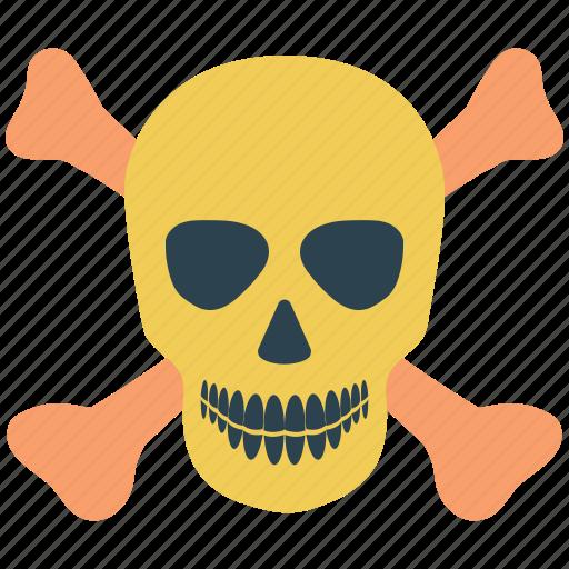 crossbones, crossing, danger, dead, death, human skull, skull icon