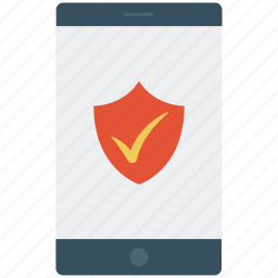 antivirus software, check mark, internet bug, mobile, security concept, smartphone icon