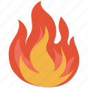 bonfire, burn, burning, fire, flame, hot, natural phenomenon icon