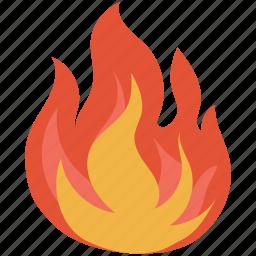 bonfire, burn, burning, fire, flame, hot, natural phenomenon icon