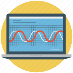 chart, device screen, graph, graphic picture, laptop, laptop screen, screen icon