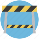 barrier, boundary, construction barrier, road barrier, road sign, under construction icon