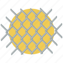 barbed wire, concertina wire, crime, razor wire, security fence, steel, wire icon