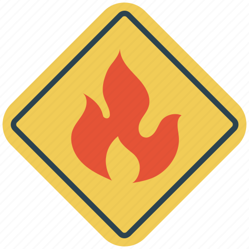 danger, danger sign, fire, fire warning, road sign, warning sign, warning symbol icon