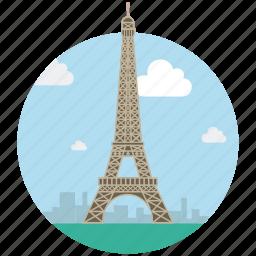 eiffel tower, famous place, france, landmark, monument, paris, tower icon