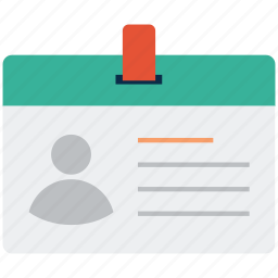 designation, id, id badge, id card, identification, identity, identity card icon