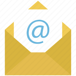 arroba, electronic mail, email, email message, mail, message icon