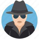 character, criminal, gangster, mysterious, robber, spy, thriller icon