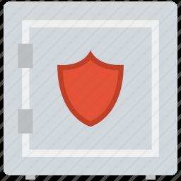 bank locker, bank safe, cash safety, finance, money box, safe, safe box, shield icon