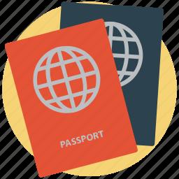 licence, pass, passport, permit, travel id, travel permit, visa icon