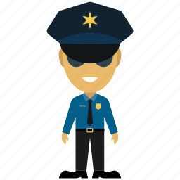cartoon, officer, police, police force, police man, police officer, security icon