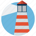 beacon, beacon light, guidepost, lighthouse, pointer, signal, watchtower icon
