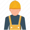 construction worker, employee, labourer, manual worker, occupation, worker, workman icon