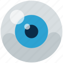 blue, circle, eye, eyeball, lens, looking, orb icon