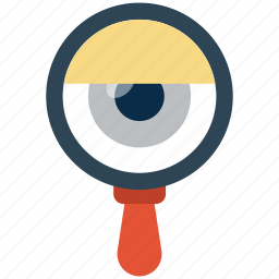 eye, find, loot at, magnifier, search, view, watch icon