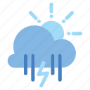 cloud, forecast, rainy, snowy, storm, weather icon icon