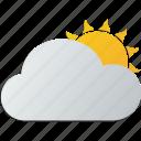 cloudy, sun icon