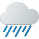 heavy, storm, rain, cloud icon