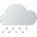 cloud, cloudy, snow icon