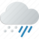 and, cloud, rain, snow icon