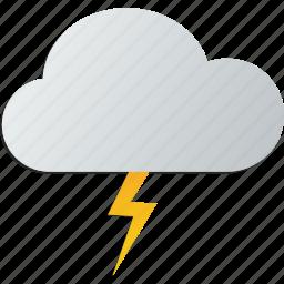 cloud, lightning, storm, thunder icon
