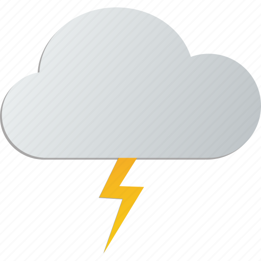 cloud, lightning, storm, thunder icon