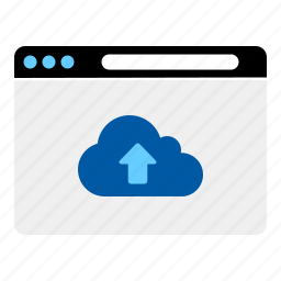 clouds, internet, sharing, upload, website icon