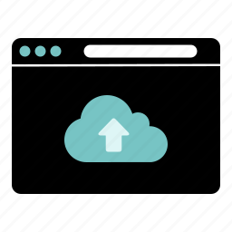 clouds, internet, upload, web icon