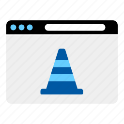 cone, construction, internet, web, website icon