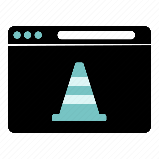 cone, construction, web, website icon