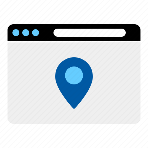 directions, internet, location, map, online, website icon