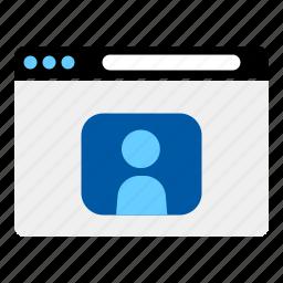 internet, online, personal, profile, social netwoek, website icon