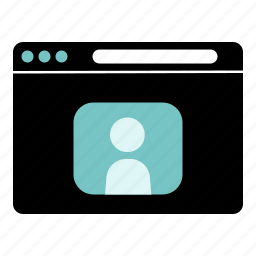 intenret, personal, profile, social network, website icon