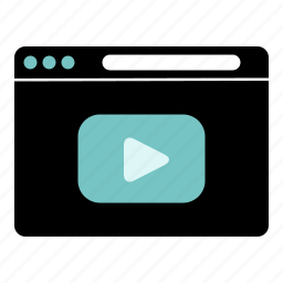 film, music, online, play, straming, video icon