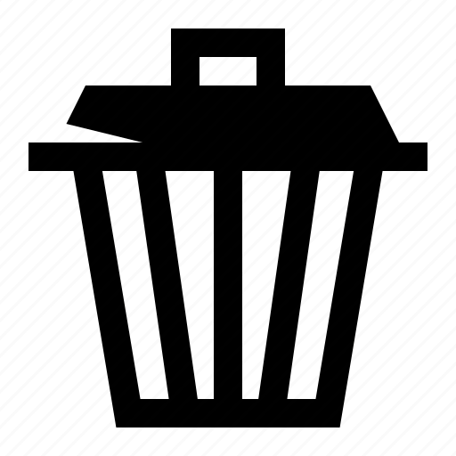bin, delete, garbage, remove, trash, trash can icon