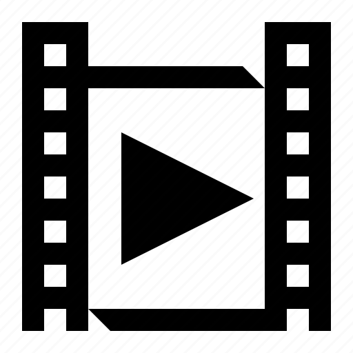 film, media, video, video file icon