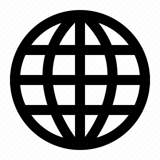 globe, internet, network, web icon