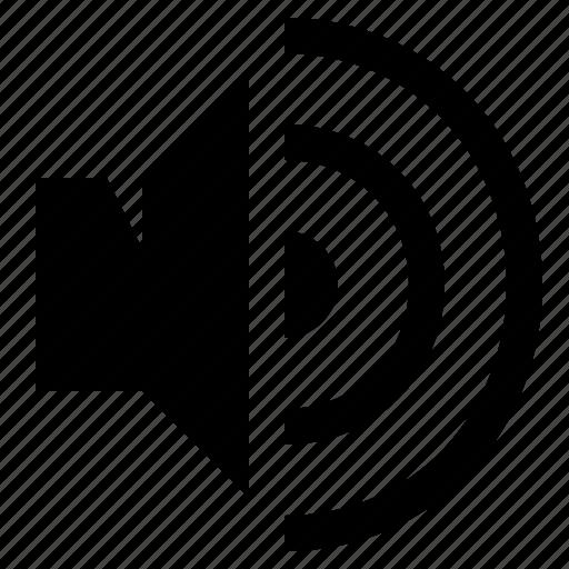 audio, loud, loudness, volume icon