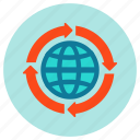 globe, internet, seo, web icon