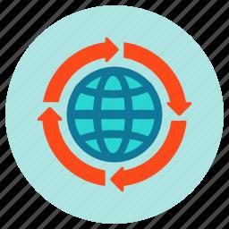 globe, internet, seo, web icon