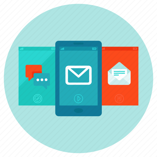 app, message, mobile, news, newsletter, phone, update icon